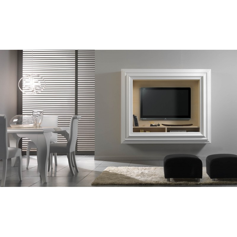 Porta tv cornice eban creations not only wood for Cornice porta tv